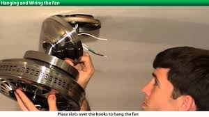 how to install a hunter ceiling fan 2xxxx series models youtube
