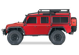 red land rover traxxas trx4 land rover defender 1 10 crawler red amazing rc
