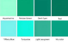 color blue green light teal color palette blue green color palette not another