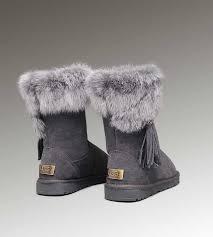 womens ugg boots grey fox fur ugg boots grey 2894 fox fur 2894