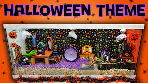 halloween background for pets gingersnap u0027s halloween hamster cage tour youtube