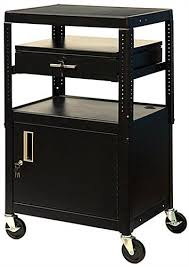 multimedia cart with locking cabinet portable projector cart stores transfers multimedia equipment