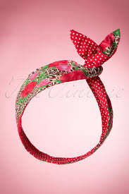 hair bands i want roses and polkadots in my hair scarf