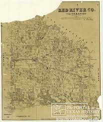 Texas Rivers Map Red River County Texas The Portal To Texas History