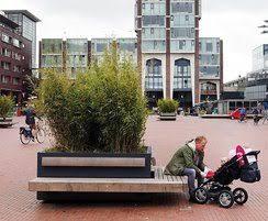 hug a tub tree planter benches streetlife esi external works