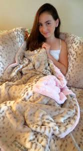 Faux Fur Blankets And Throws Kvh By Kelly Van Halen Faux Fur Snow Leopard Pink Mink Jr Throw