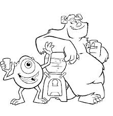 monsters 39 animation movies u2013 printable coloring pages