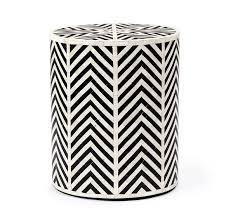 black and white side table kiara side table cream black horn side tables gratsdecor com