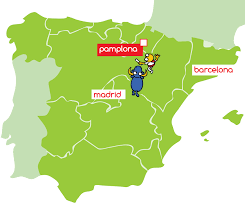 Pamplona Spain Map by Sanfermines Incentive Program