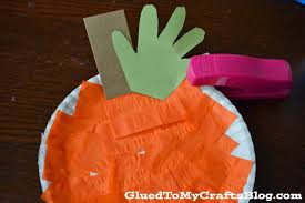 plate pumpkin kid craft