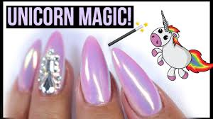 unicorn opal mirror chrome mother of pearl opal nails lamp