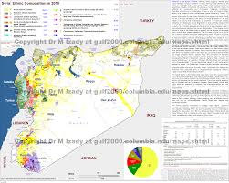 Where Is Syria On The Map by The Gulf 2000 Project Sipa Columbia University
