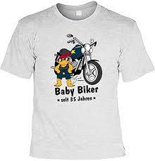 spr che zum 35 geburtstag tshirt baby biker seit 35 jahren lustiges sprüche shirt als