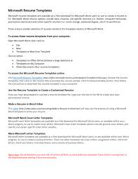 Resume Template On Word 2010 Free Chronological Resume Template Microsoft Word Resume