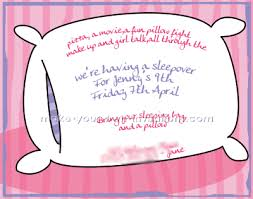 pajama invitations sleepover invitation ideas for birthday