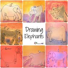 elephants drawing lessons for kids of all ages kinderart