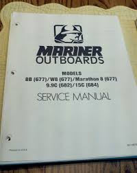 maintenance u0026 service manual mercury mariner outboard motor 8 9 9