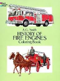 history fire engines coloring book albert smith