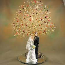 fall wedding cake toppers swarovski fall tree wedding cake topper wedding cake