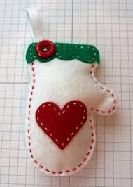 diy felt mitten ornament kit by standscrap on etsy 4 00