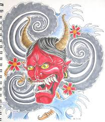 japanese hannya mask tattoo by bsguru on deviantart