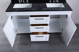 Bathroom Vanities 60 by Bosconi 60 Inch Contemporary White Double Sink Bathroom Vanity