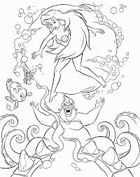 ursula mermaid coloring pages kids coloring
