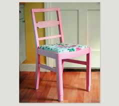 spray painting quirky kitchen chairs