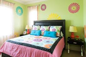 girls room paint ideas colorful stripes or a beautiful flower