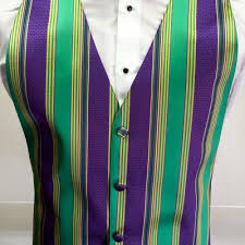 mardi gras vests mardi gras feathers vest and bow tie rental s tuxedo