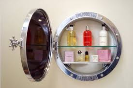 porthole mirrored medicine cabinet chadder porthole surface mirror cabinet with in polished metal