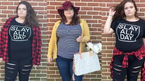 plus size fall lookbook and ideas with affordable clothing
