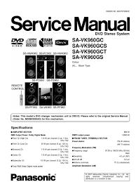 panasonic sa vk960gc 02 electrostatic discharge compact disc