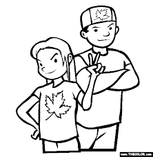 Canada Day Online Coloring Pages Page 1 Coloring Page Of