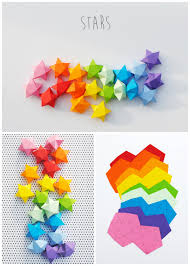 diy cut and fold lucky paper stars tutorial and template from