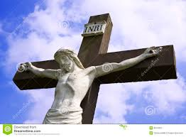 statue of jesus on the cross stock image image 8047661