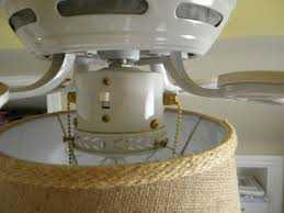 attach a drum shade to your ceiling fan light this is exactly the