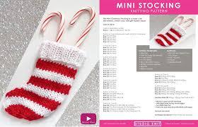 knitting pattern for christmas stocking free how to knit a mini christmas stocking pattern with video tutorial