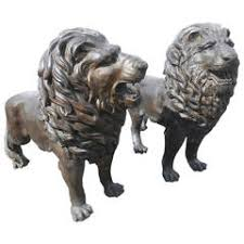 foo lions for sale antique bronze foo lion dog pair for sale at 1stdibs