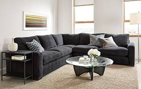 Room And Board Sofa Bed Metro Sectional In Vashon Charcoal Modern Living Room Furniture