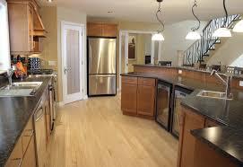 Types Of Kitchen Flooring Interior Wooden Types Of Kitchen Flooring With Black Granite