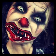 scary halloween costumes and makeup evil clown makeup tutorial female horror pinterest evil