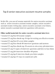 Senior Executive Resume Samples by Top 8 Senior Executive Assistant Resume Samples 1 638 Jpg Cb U003d1427839678