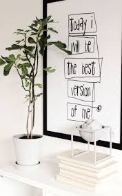 best bedroom wall ideas pinterest white walls green plant accents and black worded wall art
