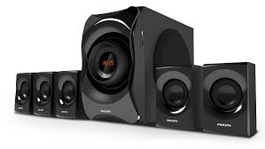 image home theater philips spa8000b 94 5 1 channel multimedia speakers system black