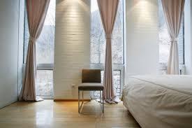 bedroom modern bedroom in light tones upscale window treatment