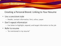 Personal Branding Resume Writing Cover Letters Ppt Download