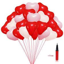 heart shaped balloons heart shaped balloons 12 inches balloons 100 pc white pink