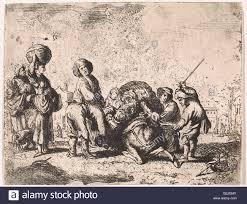 the braying donkey print maker cornelis de wael 1630 1648