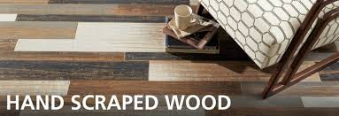 scraped wood floor decor